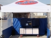 Portable paint booth front view