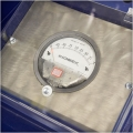 Magnehelic gauge monitors filter efficiency, letting you optimize filter replacement.