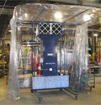 Industrial Spray Booth on Manufacturer floor