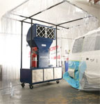 Portable Paint Booth with Van