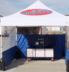 Mobile Paint Booth Outside On Site